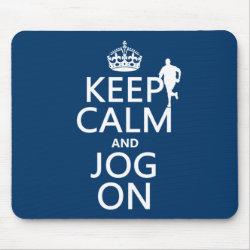 Mousepad with Keep Calm and Jog On design