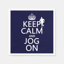 Paper Napkins with Keep Calm and Jog On design