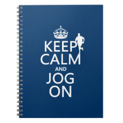 Photo Notebook (6.5' x 8.75', 80 Pages B&W) with Keep Calm and Jog On design