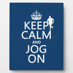 Photo Plaque 8' x 10' with Easel with Keep Calm and Jog On design