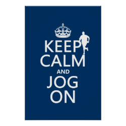 Matte Poster with Keep Calm and Jog On design