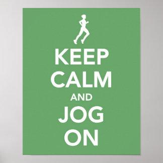 Keep Calm and Jog On print