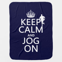Baby Blanket with Keep Calm and Jog On design