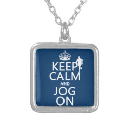 Small Necklace with Keep Calm and Jog On design