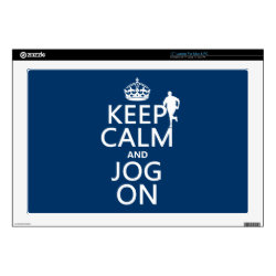17' Laptop Skin for Mac & PC with Keep Calm and Jog On design