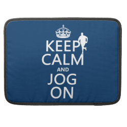 Macbook Pro 15' Flap Sleeve with Keep Calm and Jog On design