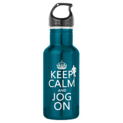 Water Bottle (24 oz) with Keep Calm and Jog On design