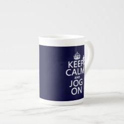 Bone China Mug with Keep Calm and Jog On design