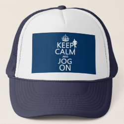 Trucker Hat with Keep Calm and Jog On design
