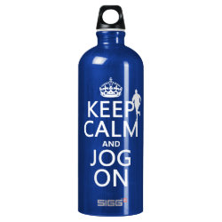 SIGG Traveller Water Bottle (0.6L) with Keep Calm and Jog On design