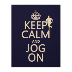 11'x14' Wood Canvas with Keep Calm and Jog On design