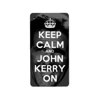 Keep Calm and John Kerry On Label