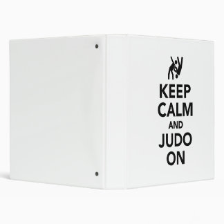 Keep calm and Judo on 3 Ring Binder