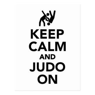 Keep calm and Judo on Postcard
