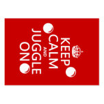 Keep Calm and Juggle On (in any color) Large Business Cards (Pack Of 100)