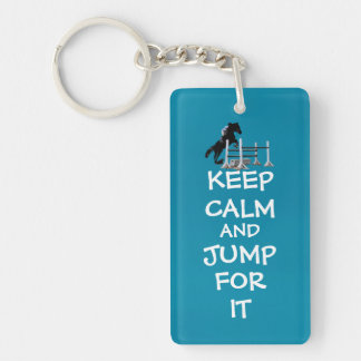 Keep Calm and Jump For It Horse Keychain