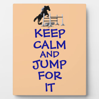 Keep Calm and Jump For It Photo Plaque
