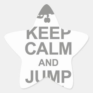 Keep Calm and Jump Jet Star Sticker