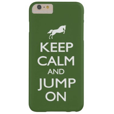 Keep Calm and Jump On Barely There iPhone 6 Plus Case