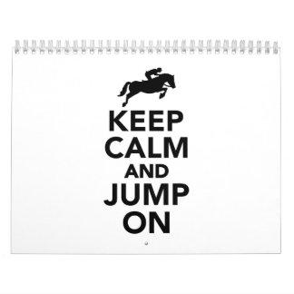 Keep calm and jump on calendar