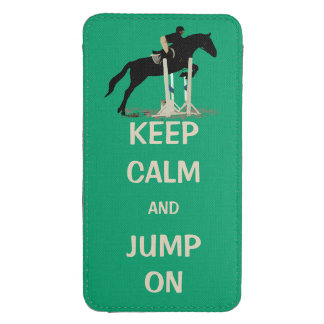 Keep Calm and Jump On Horse Galaxy S4 Pouch