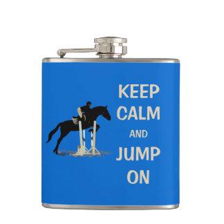 Keep Calm and Jump On Horse Hip Flask