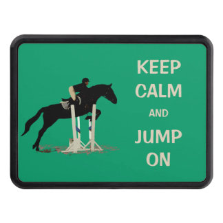 Keep Calm and Jump On Horse Tow Hitch Cover
