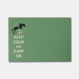 Keep Calm and Jump On Horse Post-it Notes
