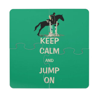 Keep Calm and Jump On Horse Puzzle Coaster
