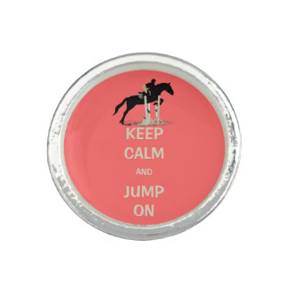 Keep Calm and Jump On Horse Rings