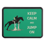 Keep Calm and Jump On Horse Trailer Hitch Cover