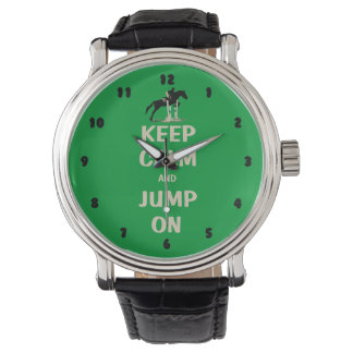 Keep Calm and Jump On Horse Wrist Watches