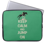 Keep Calm and Jump On Laptop Bag Laptop Sleeves