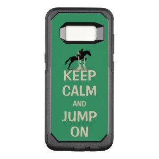 Keep Calm and Jump On OtterBox Commuter Samsung Galaxy S8 Case