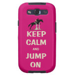 Keep Calm and Jump On Pink Horse Galaxy S3 Covers