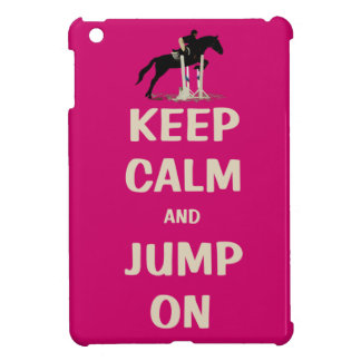 Keep Calm and Jump On Pink Horse iPad Mini Case