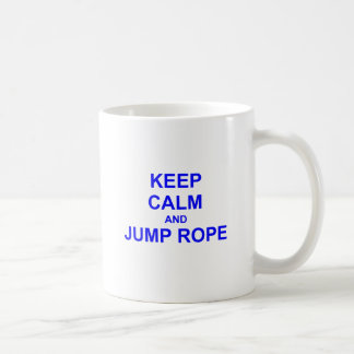 Keep Calm and Jump Rope black gray blue Coffee Mug