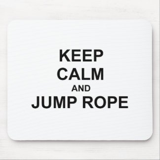 Keep Calm and Jump Rope black gray blue Mousepads