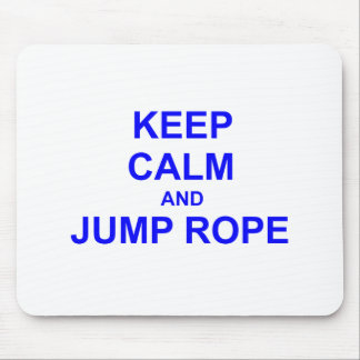 Keep Calm and Jump Rope black gray blue Mouse Pad