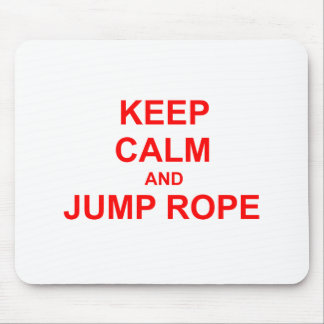 Keep Calm and Jump Rope orange pink red Mouse Pad