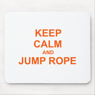 Keep Calm and Jump Rope orange pink red Mousepad