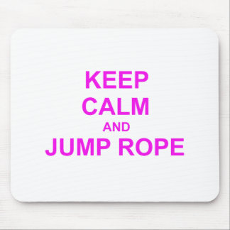 Keep Calm and Jump Rope orange pink red Mouse Pads