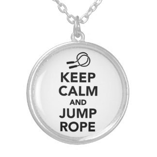 Keep calm and Jump rope Round Pendant Necklace