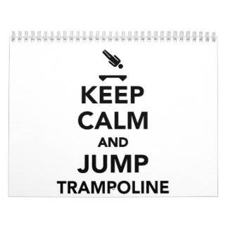 Keep calm and jump trampoline calendar