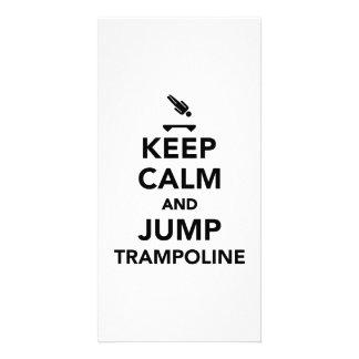 Keep calm and jump trampoline card