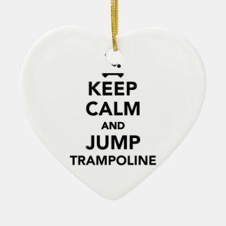 Keep calm and jump trampoline ceramic ornament