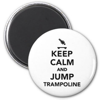 Keep calm and jump trampoline magnet