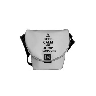Keep calm and jump trampoline messenger bag