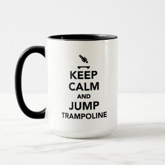 Keep calm and jump trampoline mug