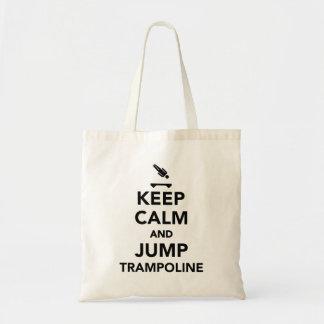 Keep calm and jump trampoline tote bag